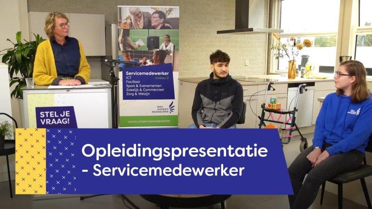 YouTube video - Servicemedewerker Zorg & Welzijn